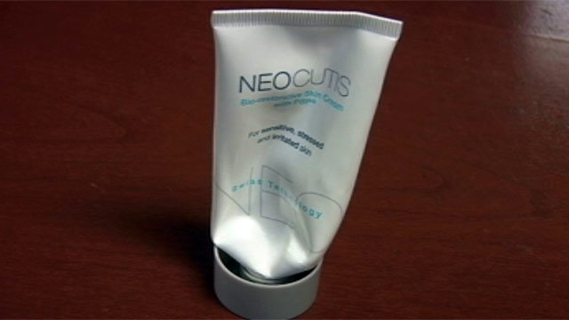 A tube of NeoCutis skin cream that Lona Lyda used before realizing what it was made from. (File/FOX Carolina)