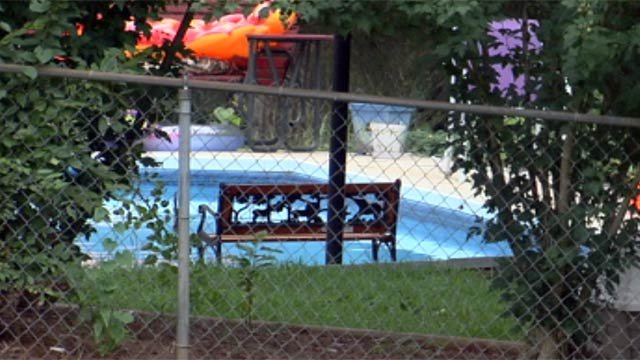 A 3-year-old boy fell into the Seabury Drive home's pool and drowned on Tuesday. (July 24, 2012/FOX Carolina)