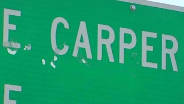 Deputies say glue damaged this sign that honors a deputy killed in the line of duty in 2007. (July 25, 2012/FOX Carolina)