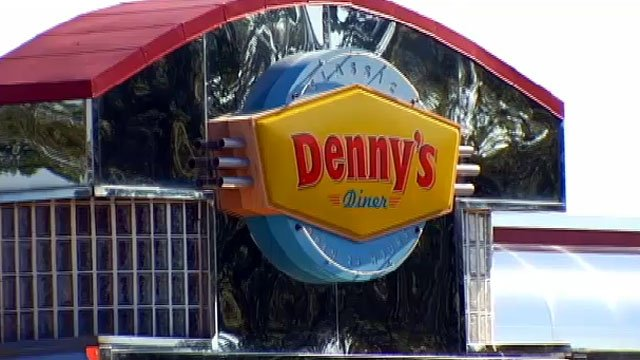 The sign outside the Denny's restaurant in Boiling Springs. (July 28, 2012/FOX Carolina)