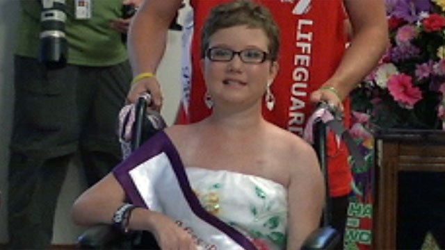 Katy James is honored at her Greenville church. (July 30, 2012/FOX Carolina)