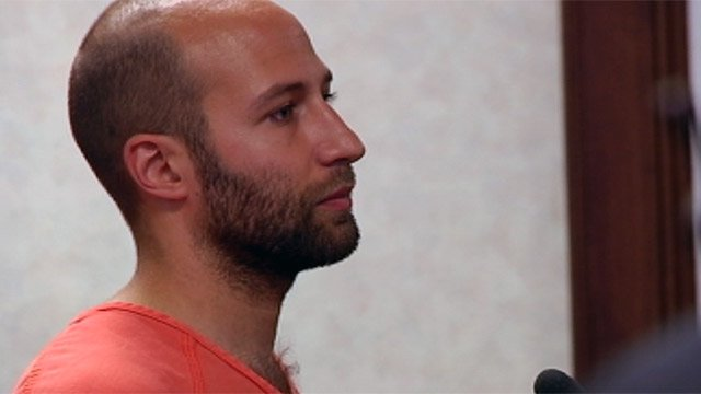 Jeffrey Martell appears before a Greenville Co. judge. (Aug. 2, 2012/FOX Carolina)