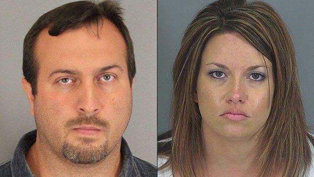 James Dimsdale (left) and Lisa Winkler. (Spartanburg Co. Sheriff's Office)
