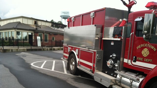 Piercetown firefighters were some of who responded to the restaurant fire. (Aug. 4, 2012/FOX Carolina)