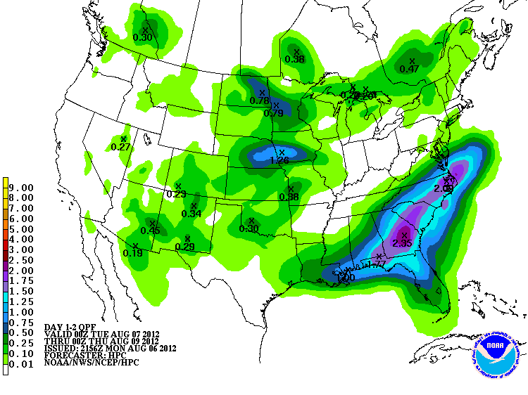 Needed rain coming for the driest parts of the southeast!