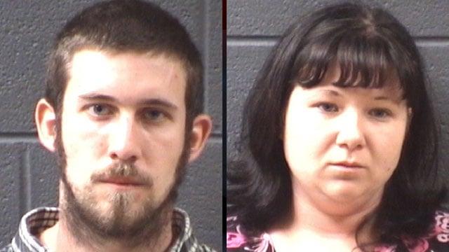 Jeremiah Bowen (left) and Christina Roberts. (Buncombe Co. Sheriff's Office)