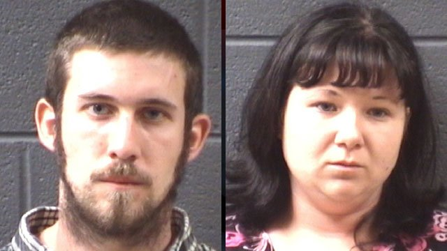 Jeremiah Bowen (left) and Christina Roberts. (Buncombe Co. Sheriff's Office)