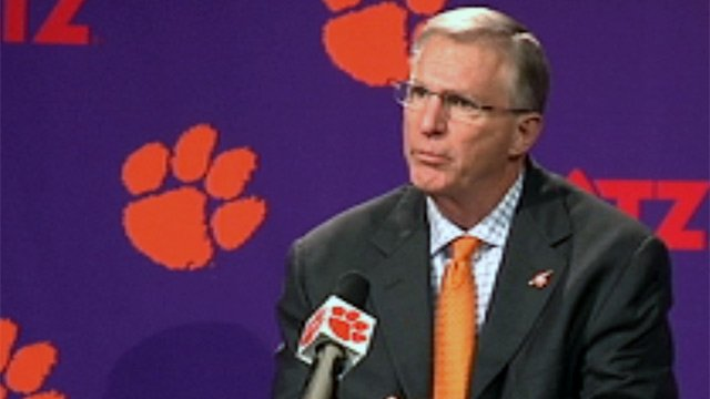 Clemson athletics director Terry Don Phillips. (Aug. 9, 2012/FOX Carolina)