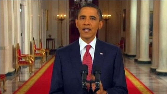 President Barack Obama addresses the nation from The White House. (File/CNN)