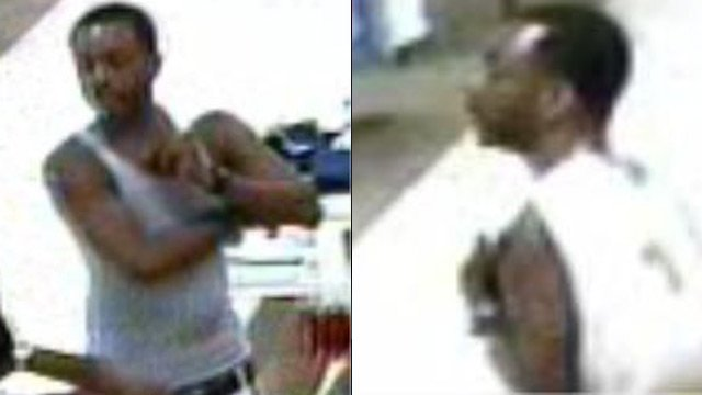 Surveillance photos of a suspect accused of using stolen credit cards. (Greenville Police Dept.)