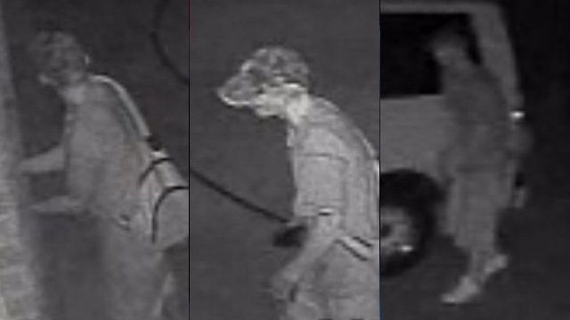 Surveillance photos of the autobreaking suspect. (Simpsonville Police Dept.)