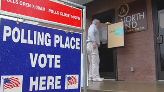 A voter enters a polling place in Greenville County. (File/FOX Carolina)
