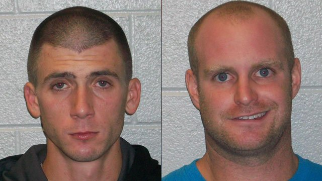 Christopher Lewis (left) and Lance Staton. (Henderson Co. Sheriff's Office)