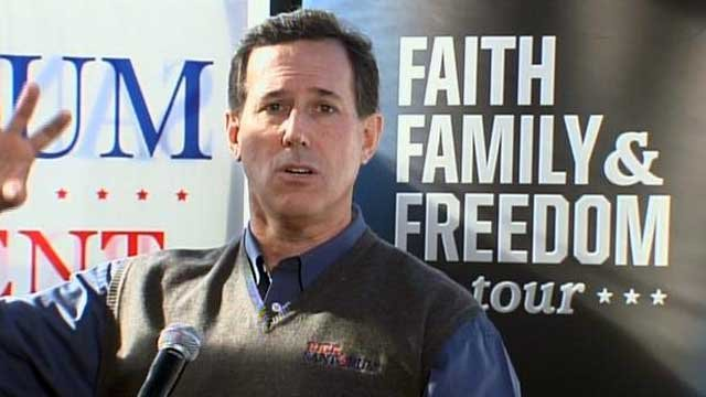 Former U.S. Sen. Rick Santorum attends a campaign event in the Upstate. (File/FOX Carolina)