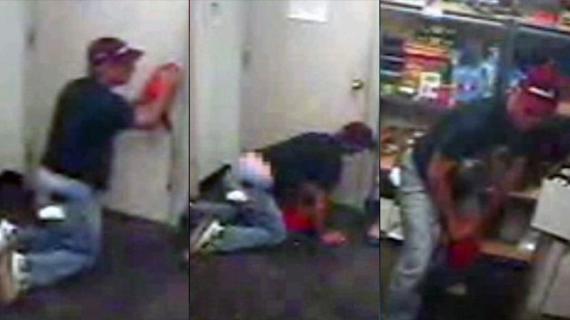 Surveillance photos of the man police say broke into the FedEx store. (Spartanburg Public Safety Dept.)