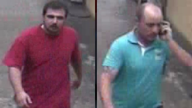 Police say these men worked together to steal an iPad from a Walmart store in Spartanburg. (Aug. 13, 2012/Spartanburg Public Safety Dept.)