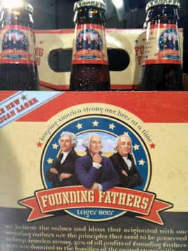 Founding Fathers beer is for sale at stores across South Carolina. (Aug. 31, 2012/FOX Carolina)