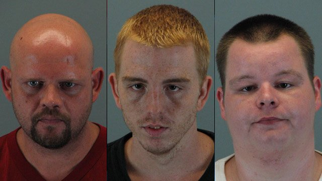 From left to right: Paul Runion, Zackery Ivey and John Watts. (Travelers Rest Police Dept.)