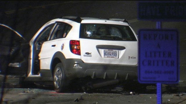 Scene of the fatal three-car collision near Isom St. and Boundary Dr. in Spartanburg. (Jan. 30, 2012/FOX Carolina)