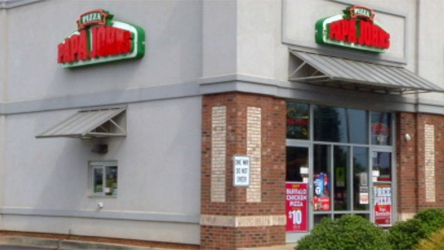 The Boiling Springs Papa Johns on Hwy. 9 where the chase began. (Sept. 2, 2012/FOX Carolina)