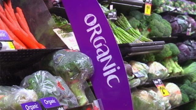 The organic produce section of an Upstate grocery store. (File/FOX Carolina)