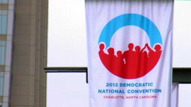 The Democratic National Convention is held in downtown Charlotte. (Sept. 4, 2012/FOX Carolina)