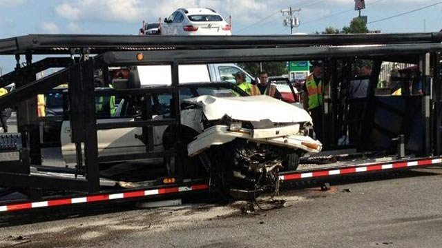 Police: Man drove high, crashed into truck hauling cars - FOX ...
