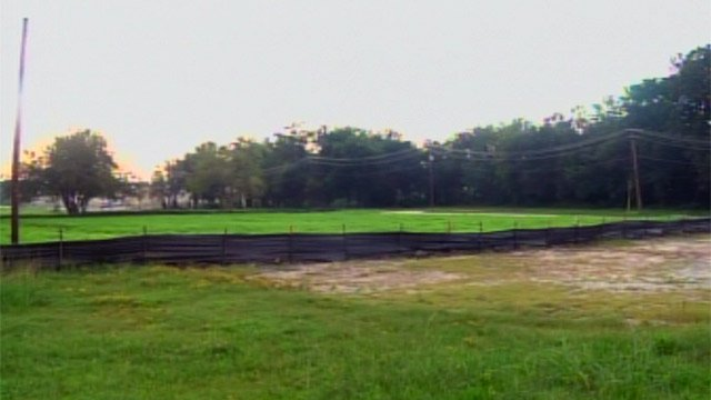 Some of the area along Hudson Street that might be made into a new park. (Sept. 6, 2012/FOX Carolina)