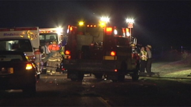 Emergency crews at the scene of a fatal crash on Cox Road in Anderson Co. (Sept. 7,  2012/FOX Carolina)