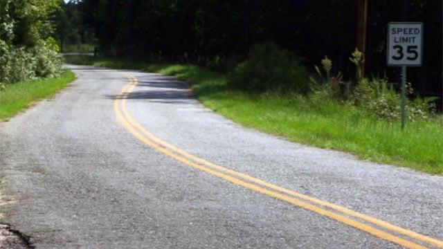 Sarah Simpson Road runs between SC 187 and SC 181 near Iva. (Sept. 10, 2012/FOX Carolina)