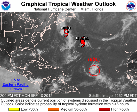 NHC look at current Atlantic storms