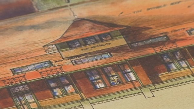 Drawings of the proposed museum. (Courtesy Frank Ruby/Transportation Museum of the World)