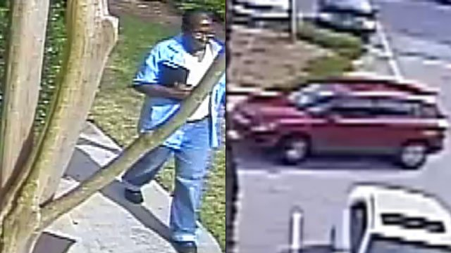 The suspect police say stole a purse from a Greenville law firm. (May 16, 2012/Greenville Police Dept.)