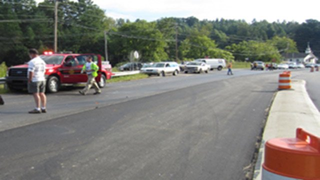 The area where the trooper was hit. (Sept. 11, 2012/Courtesy Dudley Wilson)
