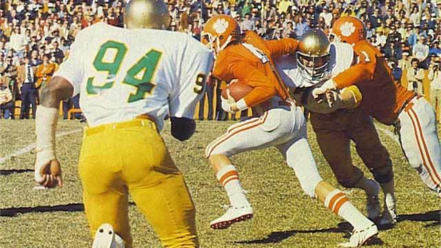 Clemson hosts Notre Dame in this 1977 game in Death Valley. (Courtesy Clemson Univ. Athletics)