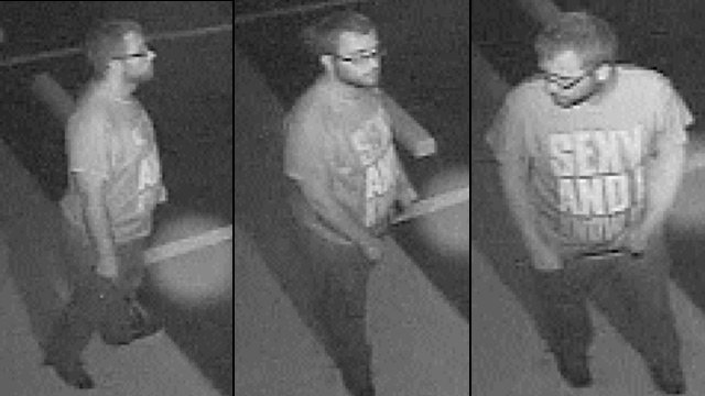 Surveillance photos show the suspect deputies say broke into the Anderson store on Sept. 4. (Anderson Co. Sheriff's Office)