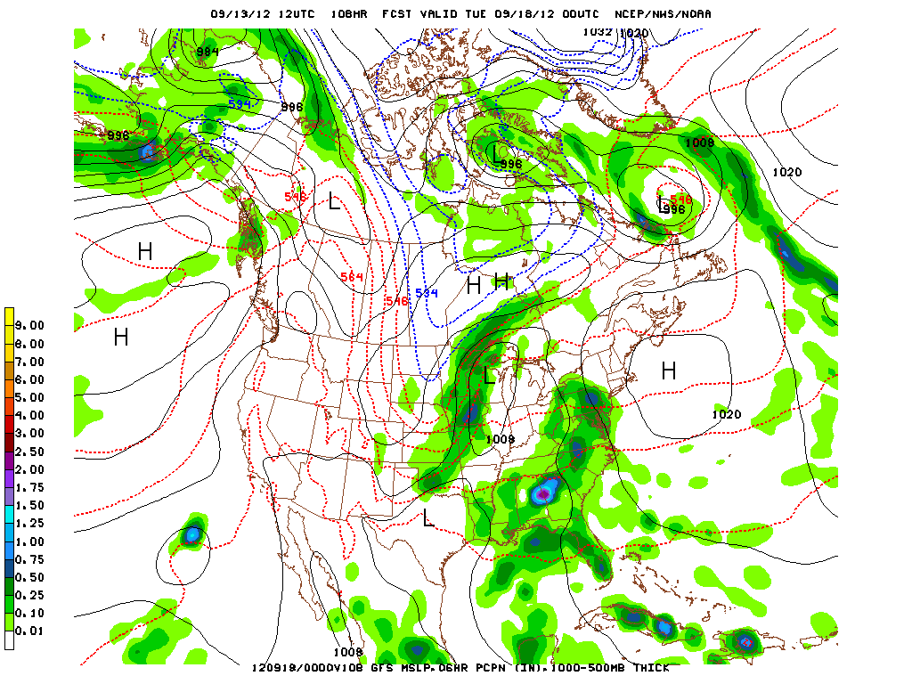 GFS model showing rain by Monday into Monday night!