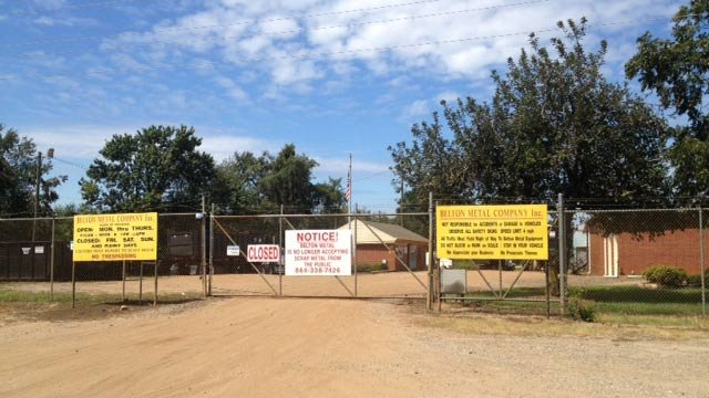 Belton Metal Company is located on Sherrard Road. (Sept. 14, 2012/FOX Carolina)
