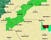 From NWS GSP.  Flash Flood Watch counties in our area are shaded in green.