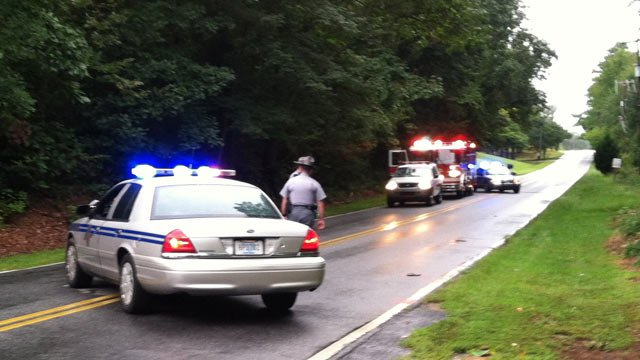 Troopers and firefighters respond to fatal crash involving a pedestrian along Stallings Road. (Sept. 18, 2012/FOX Carolina)