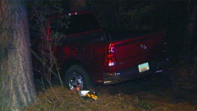 The truck involved in the crash along I-85 near mile marker 20. (Sept. 23, 2012/FOX Carolina)