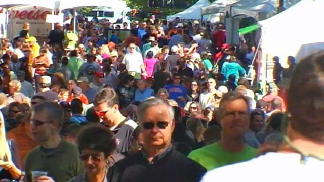 Thousands attend Fall for Greenville in October 2011. (File/FOX Carolina)