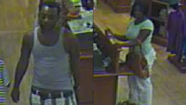 Mall surveillance shows the people of interest police need help of identifying. (Greenville Police Dept.)