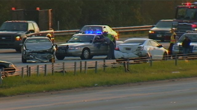 Emergency crews clear a fatal crash along I-85 in Spartanburg County. (Sept. 26, 2012/FOX Carolina)