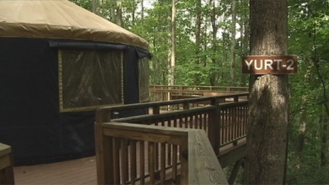 One of Campfire Lodgings Campground's yurts. (File/FOX Carolina)