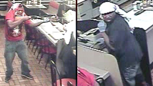 Deputies released these images of a hold up at a Waffle House restaurant. (Sept. 17, 2012/Anderson Co. Sheriff's Office)