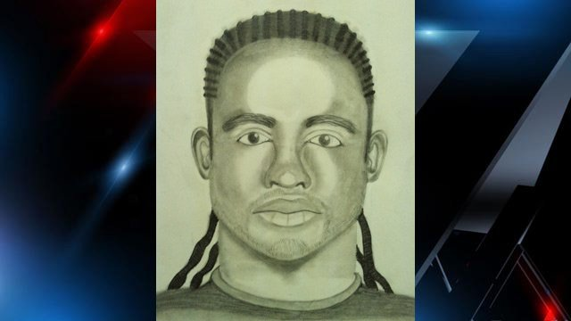 The sketch of the suspect who allegedly robbed two Wofford College students. (Spartanburg Public Safety Dept.)