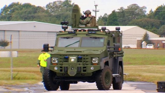 SWAT team members train at Upstate Shield event. (Oct. 2, 2012/FOX Carolina)