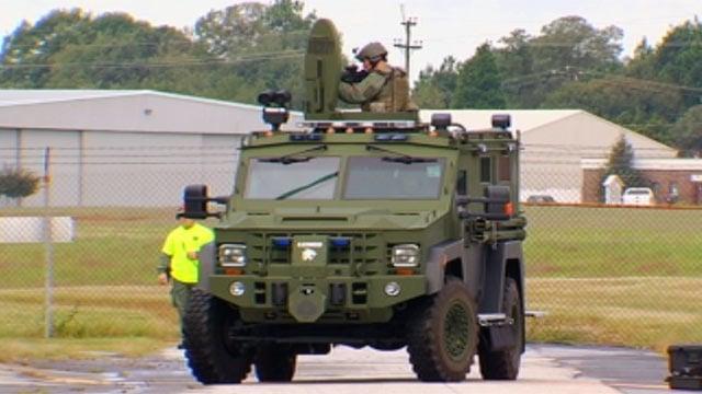 SWAT team members train at Upstate Shield event. (Oct. 2, 2012/FOX Carolina)