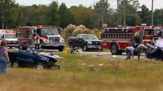 Troopers and emergency crews at the scene of the fatal crash at Welcome Road and Hwy 29. (Oct. 3, 2012/FOX Carolina)